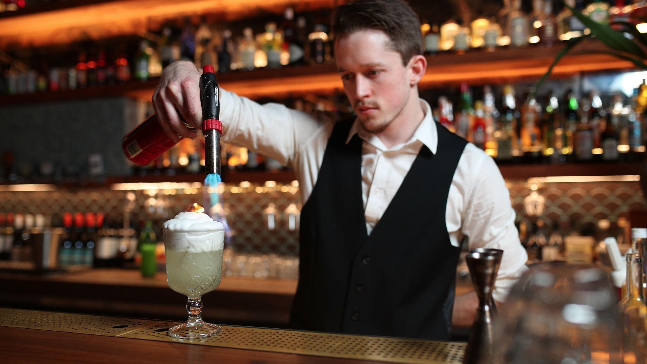 Making cocktails at Galah