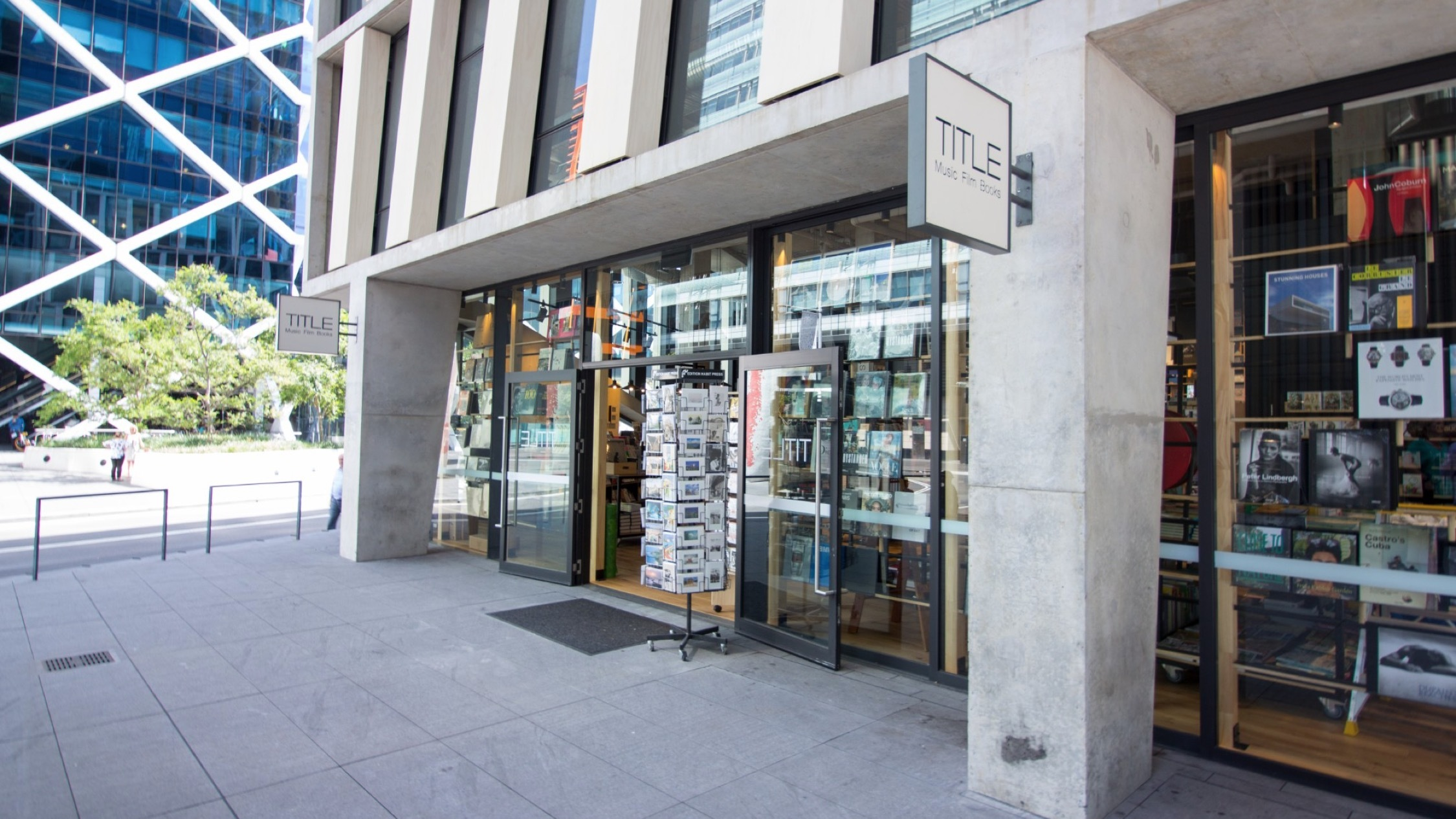 Outside at Title Book Store Barangaroo