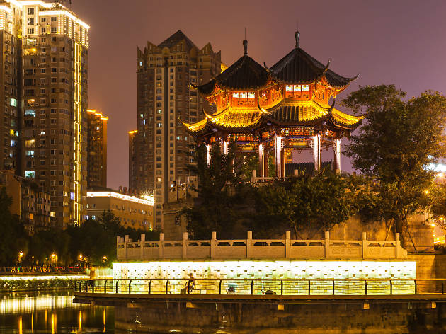 Hejiang Pavilion near Tangba Jie, Chengdu