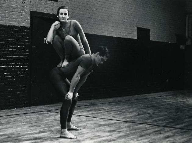 Trisha Brown and Steve Paxton in Trisha Brown's Lightfall