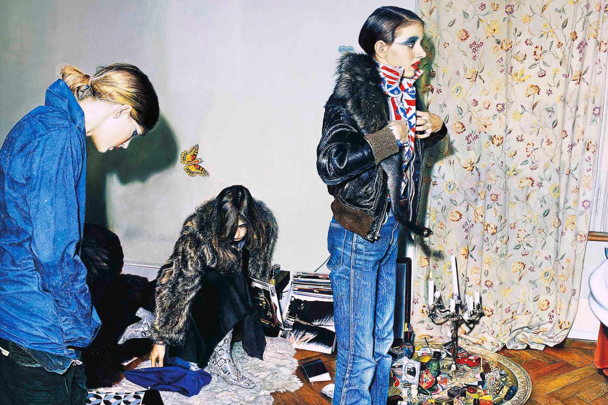 Franz Gertsch, At Luciano's House, 1973