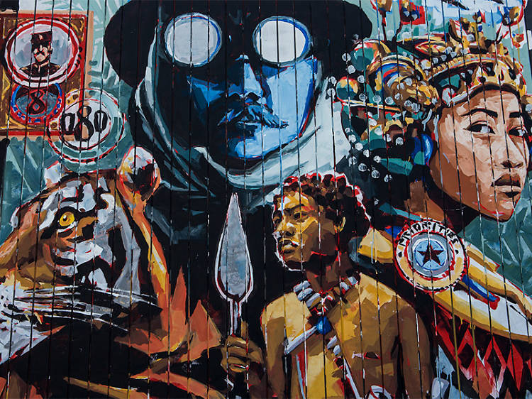 Check out some cutting-edge urban art at Bostik Murals