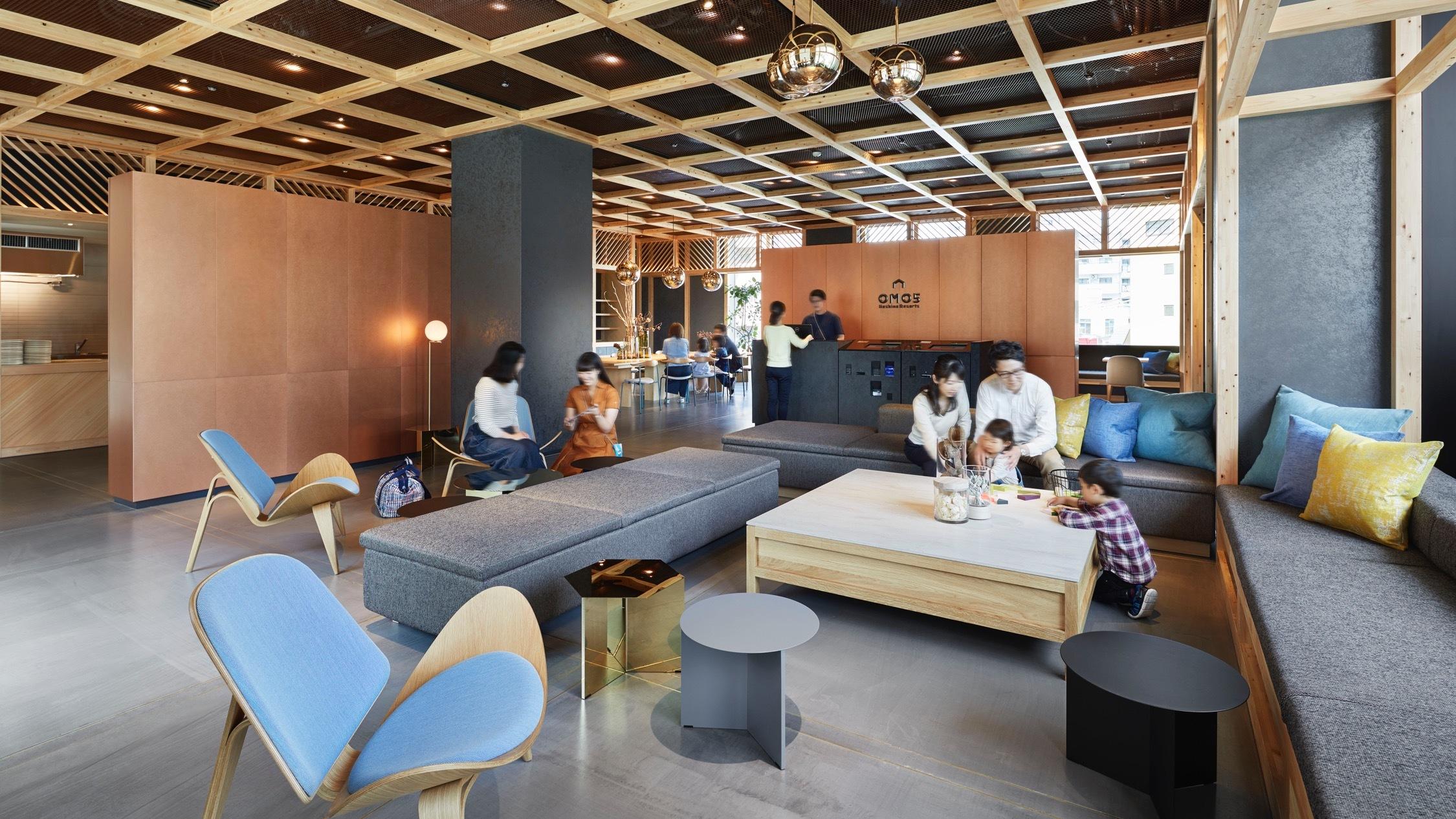 OMO5 hotel lobby