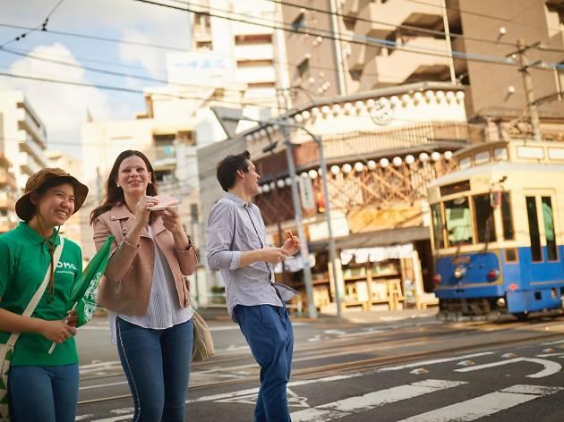 People walking streets in Otsuka, Tokyo