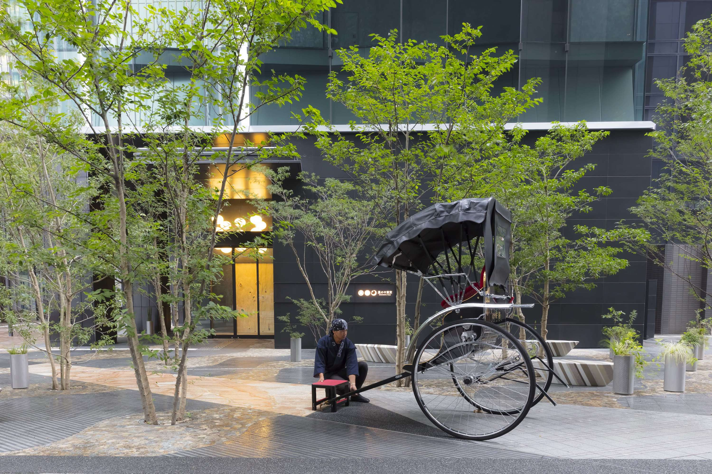 Outside Hoshinoya Tokyo