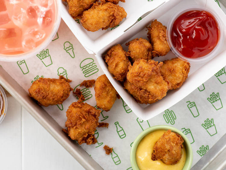 Chicken nuggets at Shake Shack