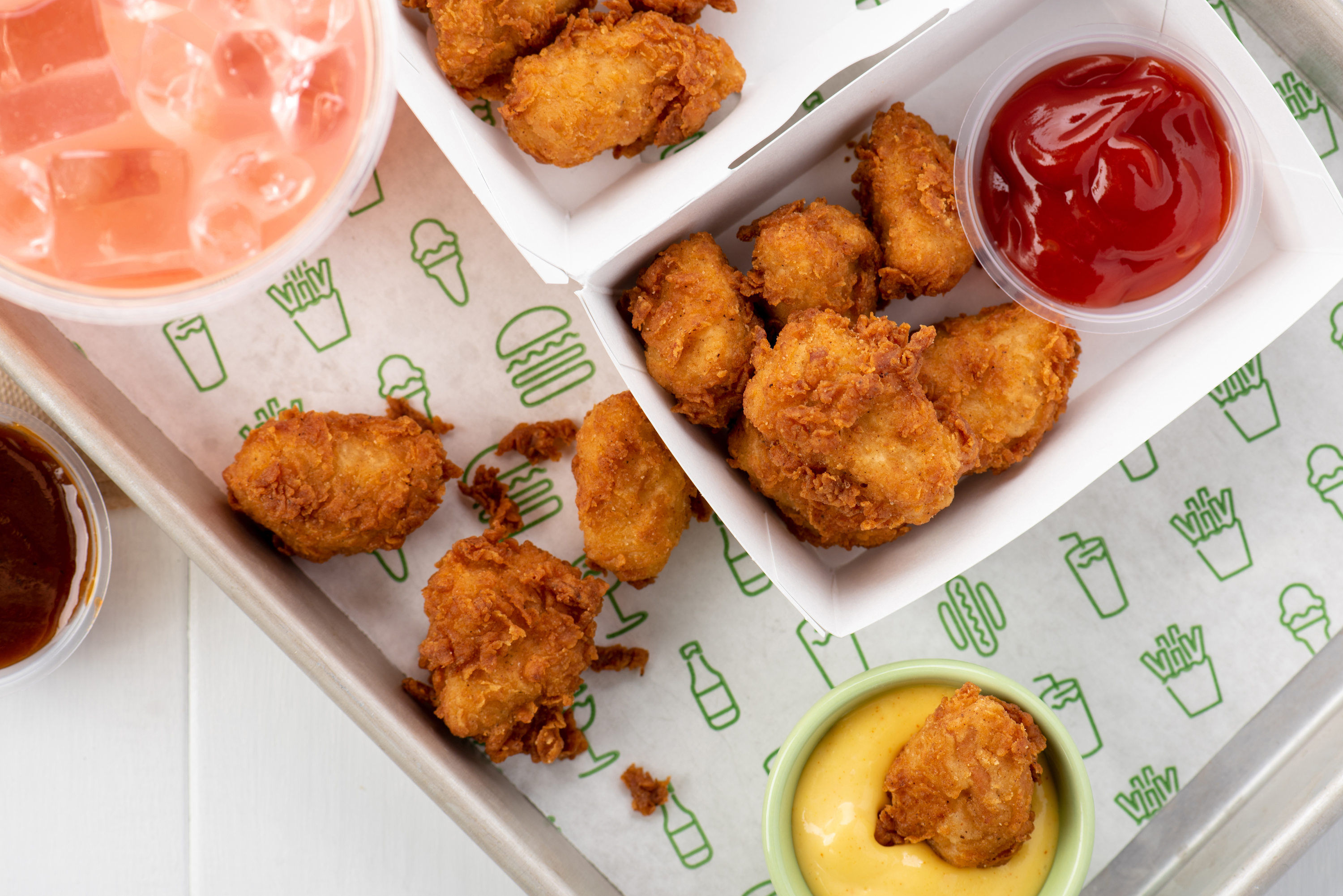 Shake Shack is serving chicken nuggets at their new location
