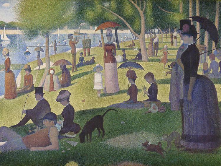 Georges Seurat, Tarde de domingo en la isla de la Grande Jatte, 1884-1886