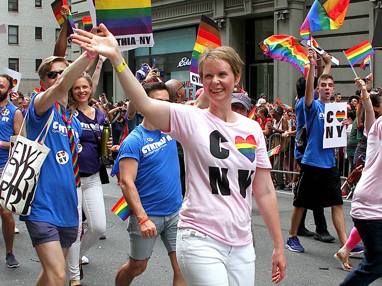 We all felt like we were living Sex and the City 3 while watching Cynthia Nixon run for  governor of New York.