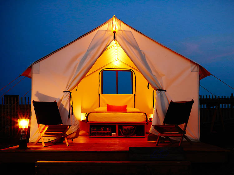 You don't have to travel far to glamp.