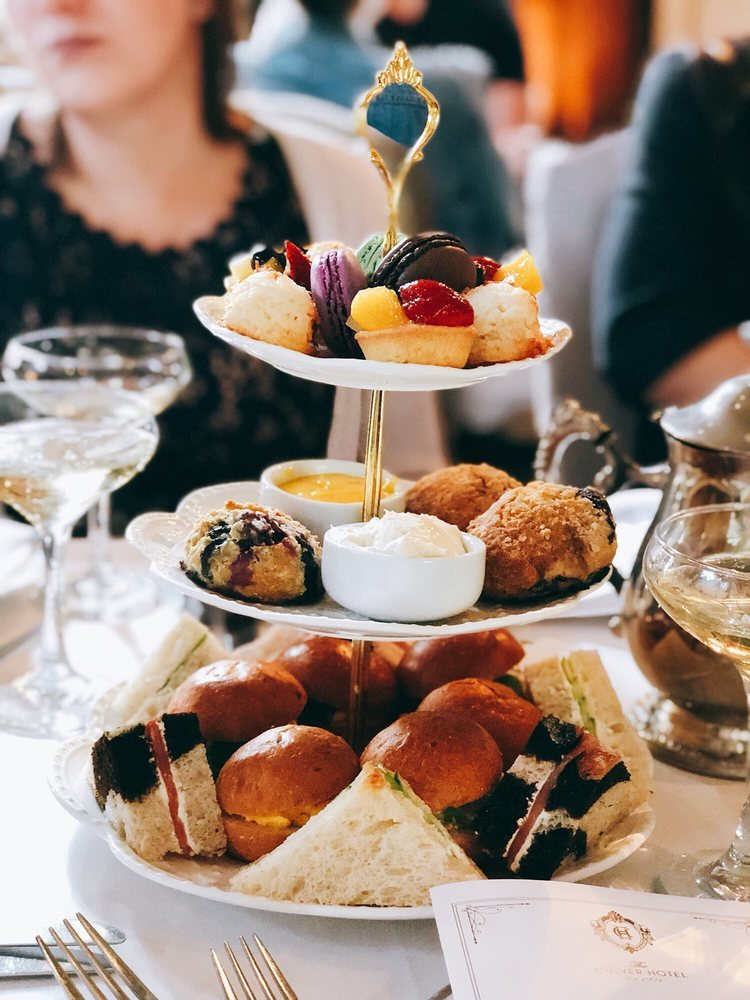 Afternoon tea at Culver Hotel in Culver City