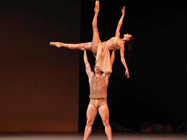 On stage prodcution shot at Spartacus Australian Ballet