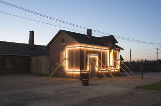 House with glowing frame design