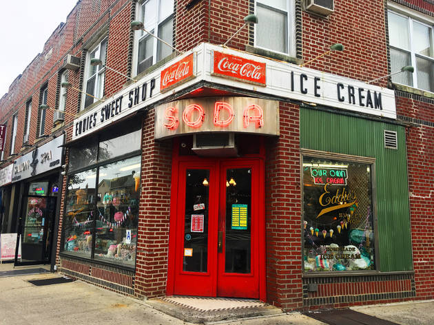 Visit Eddie's Sweet Shop, the oldest ice cream parlor in New York City