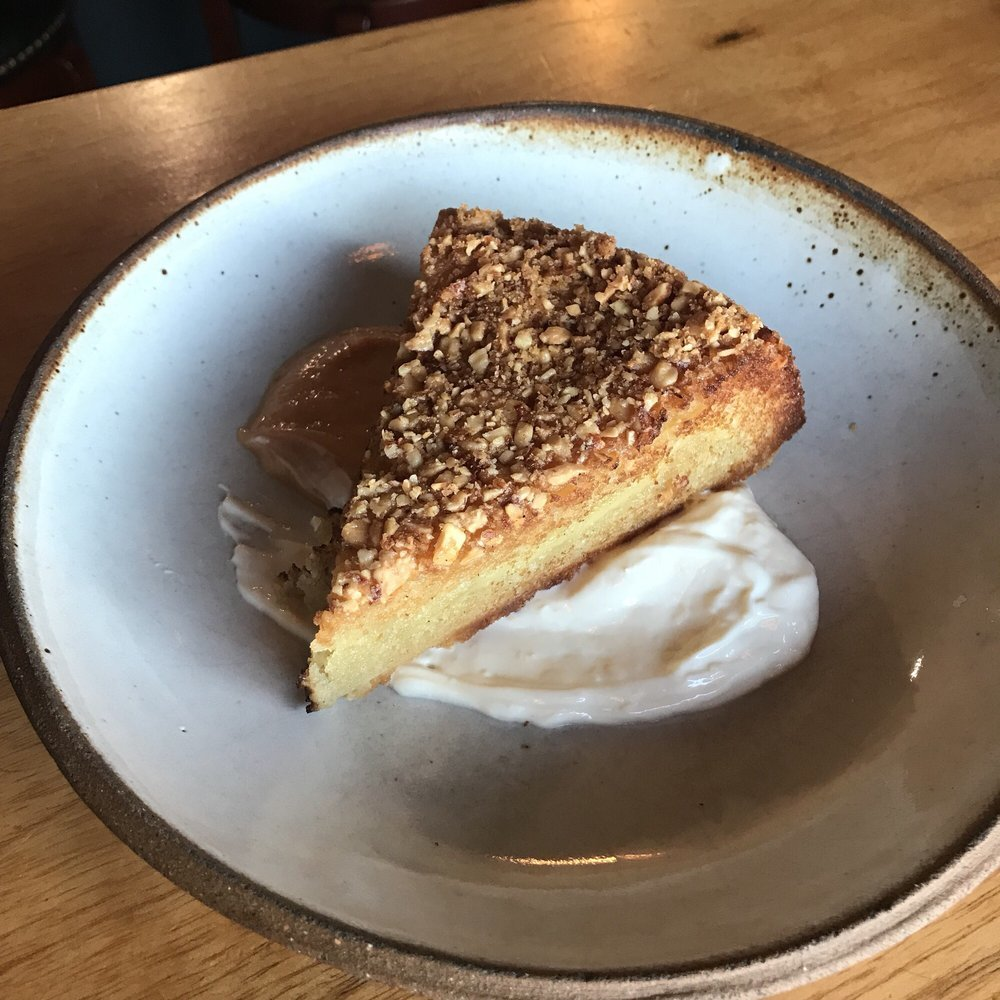 Basque Cake Dessert at Hail Mary Pizza and Journeymen in Atwater Village