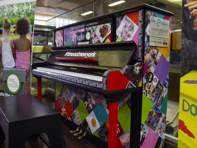 You can now play a colorful piano at Port Authority