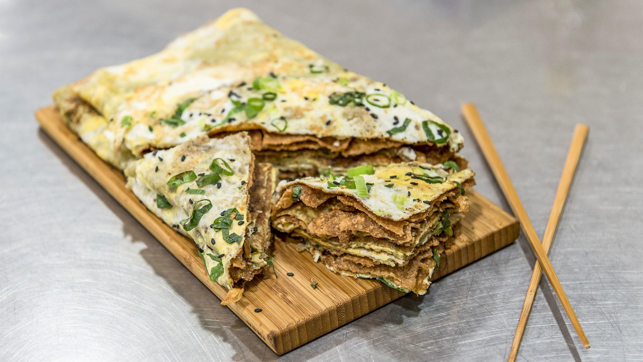 Shallot pancake at Jin Weigu