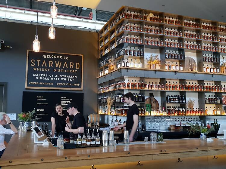 Drink locally made whisky at Starward Distillery