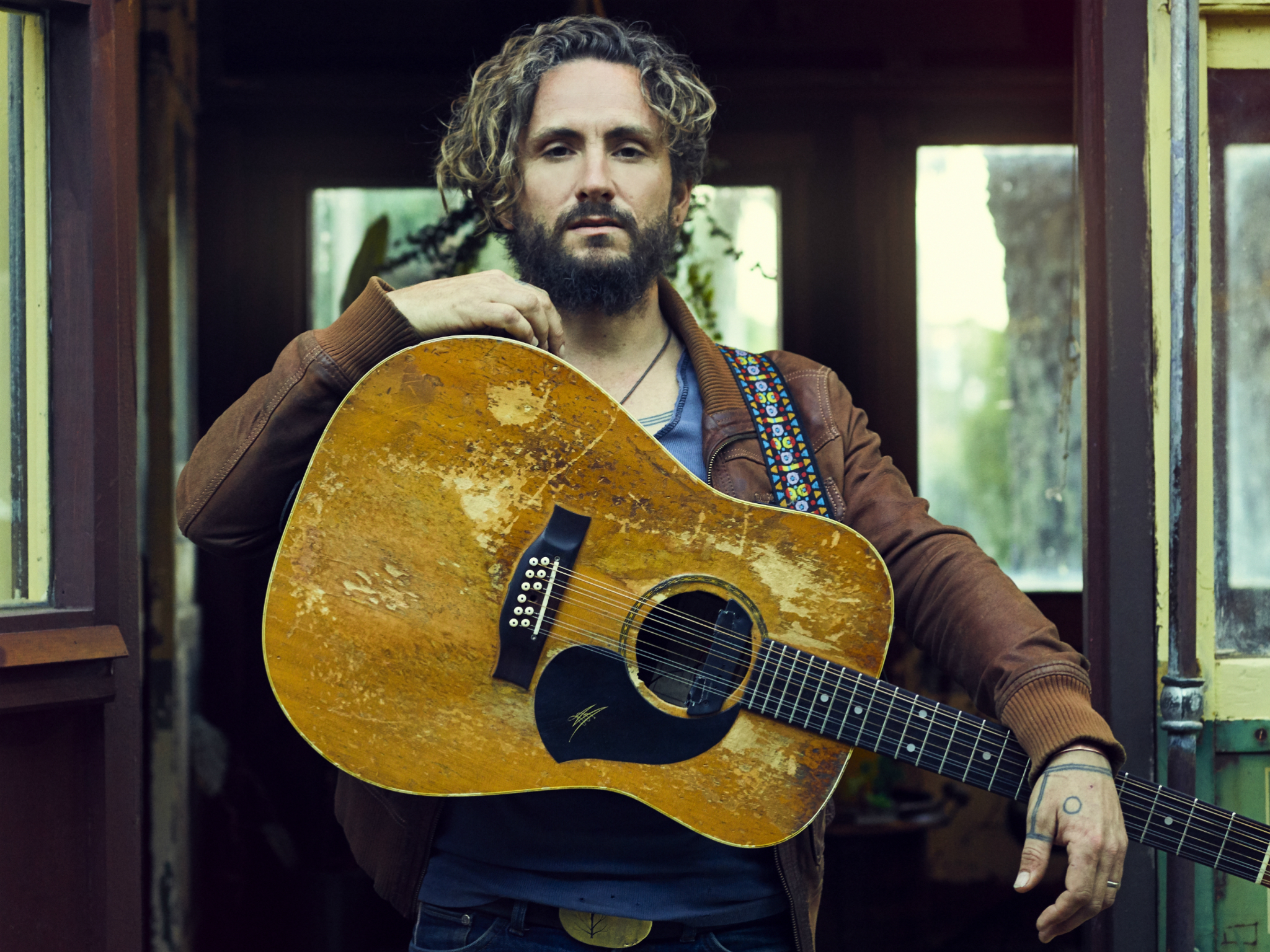 John Butler with guitar