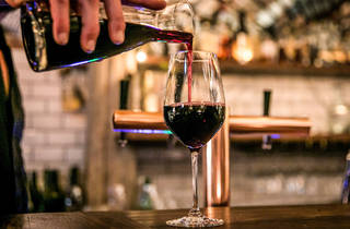 Red wine pour at Ode Bondi
