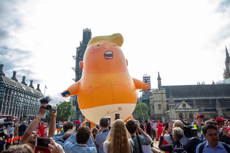 Baby Trump blimp balloon