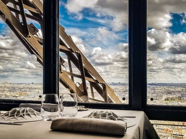 Eat in a Michelin-starred restaurant on the 2nd floor of the Eiffel Tower