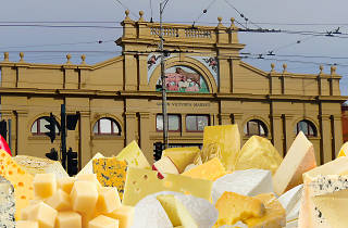 Holey Cheese Festival with cheese on Queen Vic Market