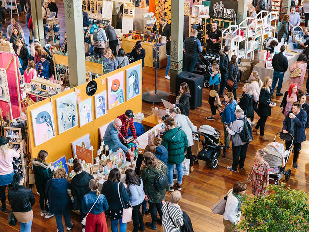 People shopping at Finders Keepers Market Melbourne