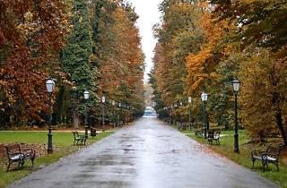 Maksimir park in autumn
