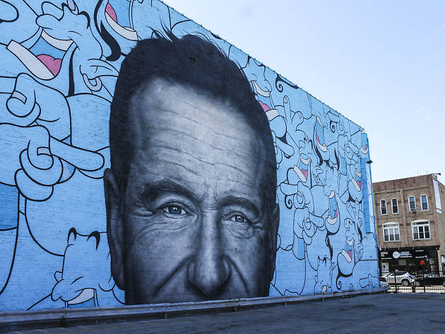 Robin Williams mural