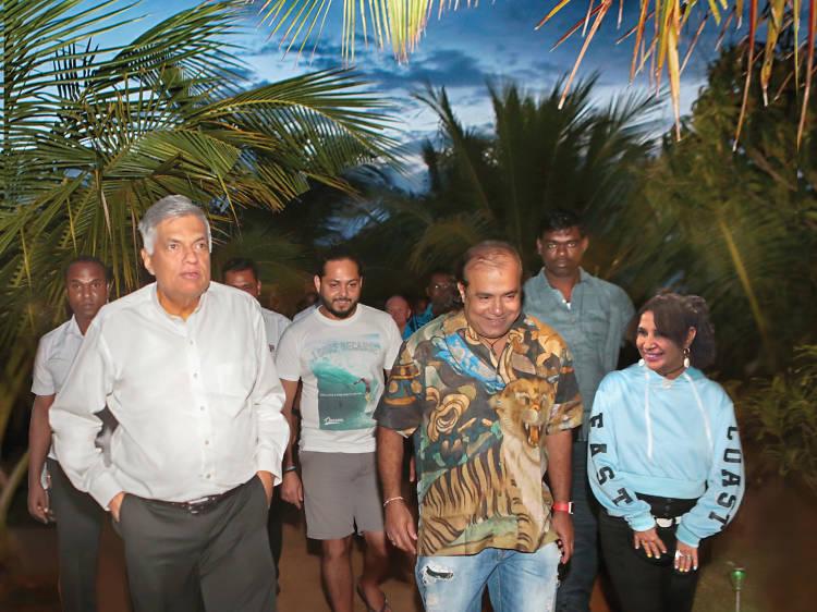 Prime Minister Ranil Wickremesinghe visits Arugambay