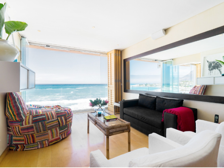Oceanfront apartment by Clifton beach