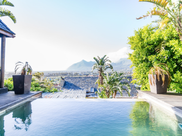 Zen retreat with infinity pool