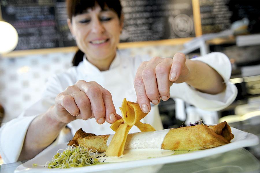 El restaurant Teresa Carles fa deu anys com a vegetarià de referència