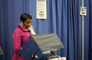 Chicago voting polling place