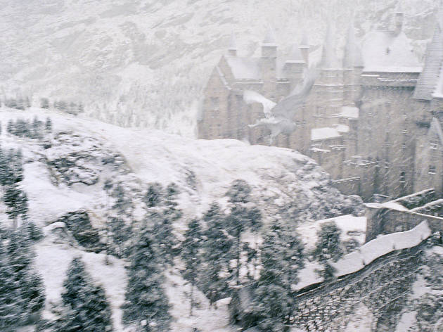 DO NOT REUSE. Hogwarts in the snow for Warner Bros Studio Tour campaign