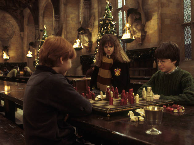 DO NOT REUSE. Wizards chess. Warner Bros Studio Tour campaign.