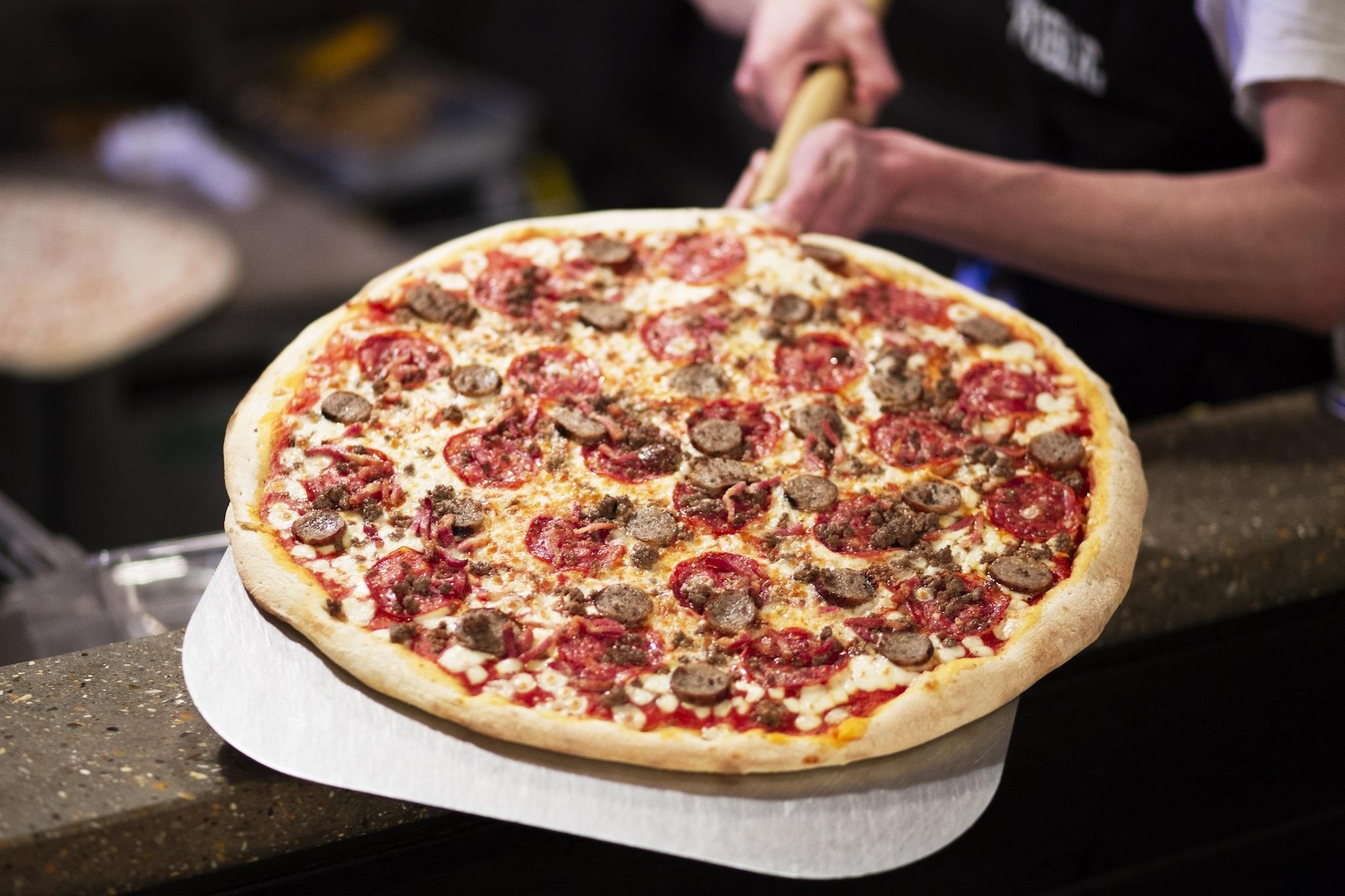 Do not reuse. Joe Public Pizza for Deliveroo pizza-makers campaign