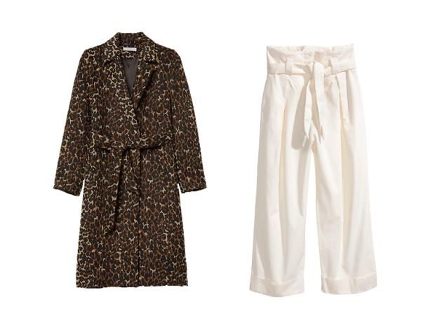 h&m leopard coat
