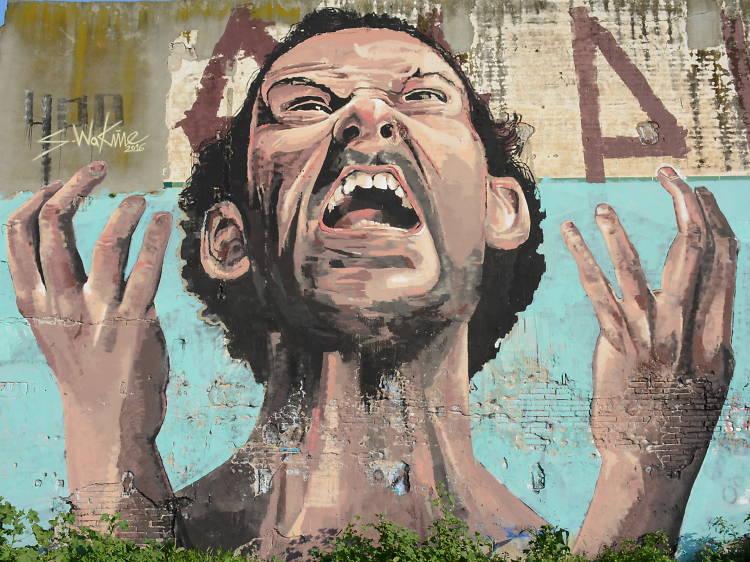 Encontrar las obras de arte urbano del Poblenou