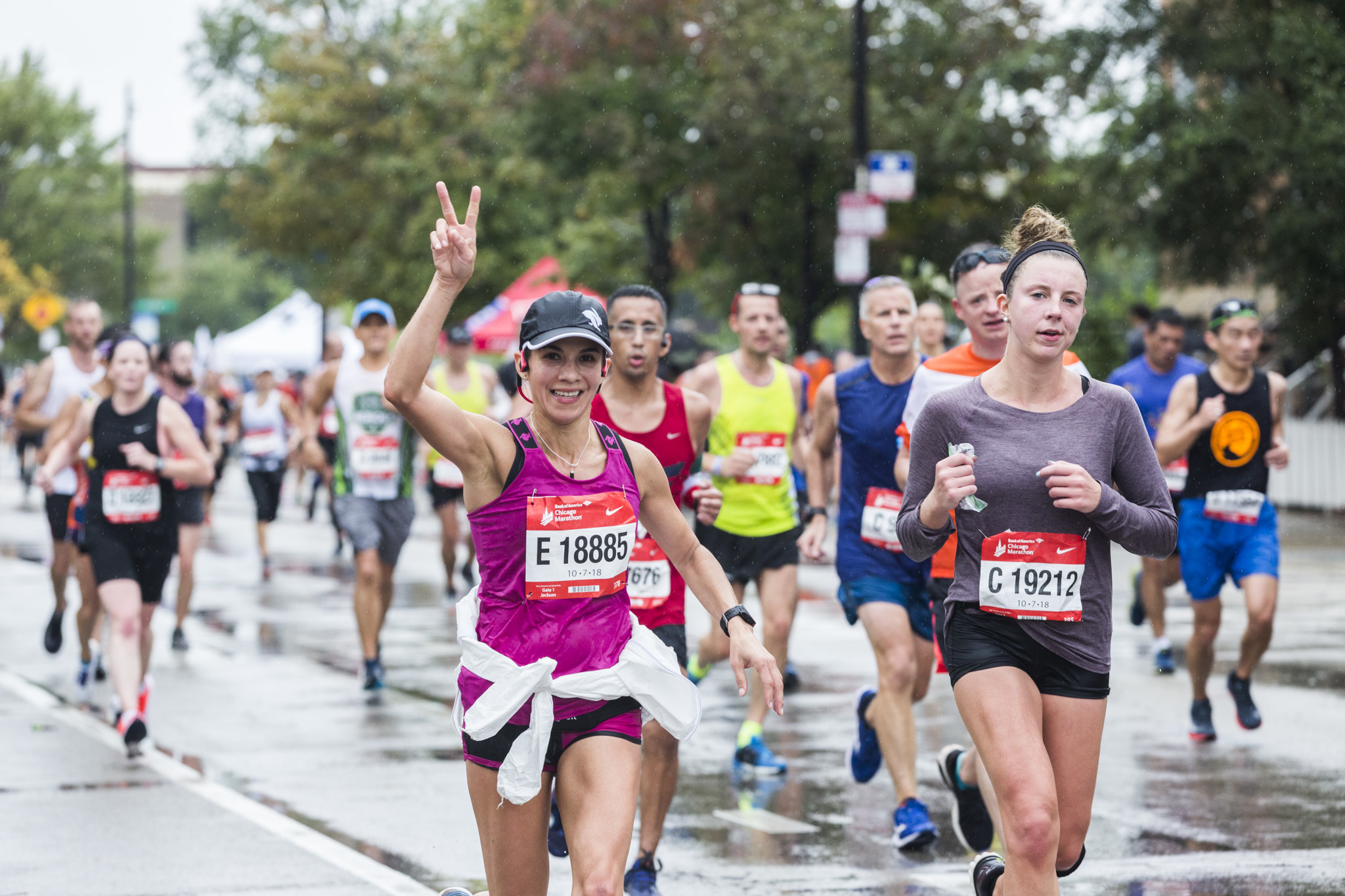 Photos from the course at the Chicago Marathon 2018
