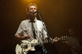 Frank Turner on stage performing with Frank Turner and the Sleeping Souls
