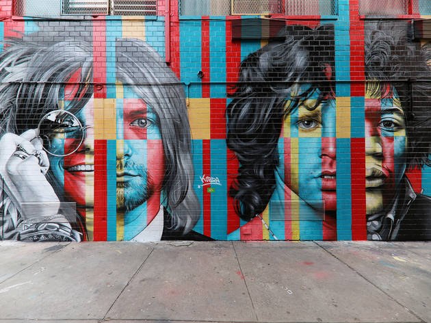 Check out this new LES mural of rock legends who died young