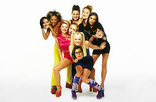 Spice Girls image with floating heads of local singers