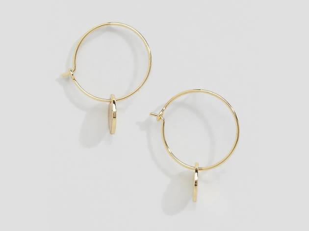 Xmas gift guide her: Monki hoop earrings from Asos, 2018