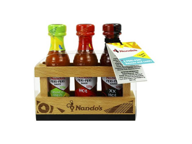 Xmas gift guide foodies: Nando's sauce caddy from Boots, 2018