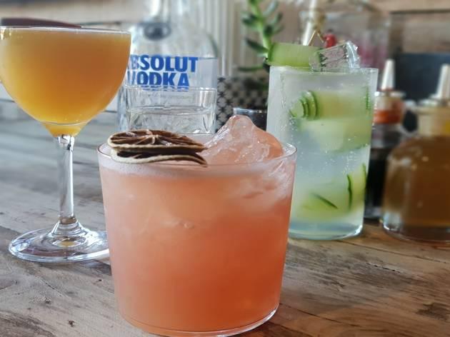 Four cocktails at Alphabet Bar