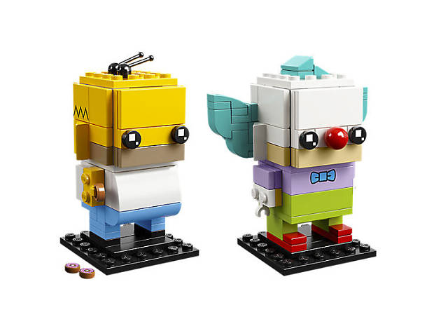 Xmas gift guide stocking fillers: LEGO Brick Headz Homer and Krusty, 2018