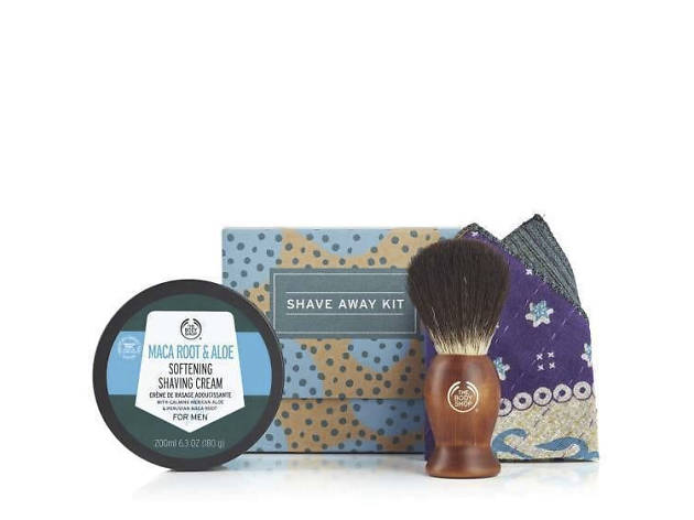 Xmas gift guide stocking fillers: Bodyshop Shave Away kit, 2018