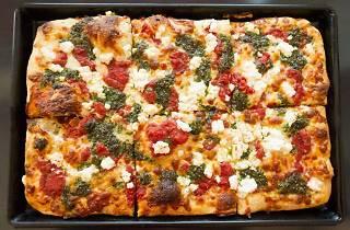 Thick crust Sicilian pizza in L.A. Prime Pizza